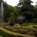 fountain and gardens at dunrobin