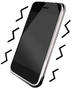 vibrating phone