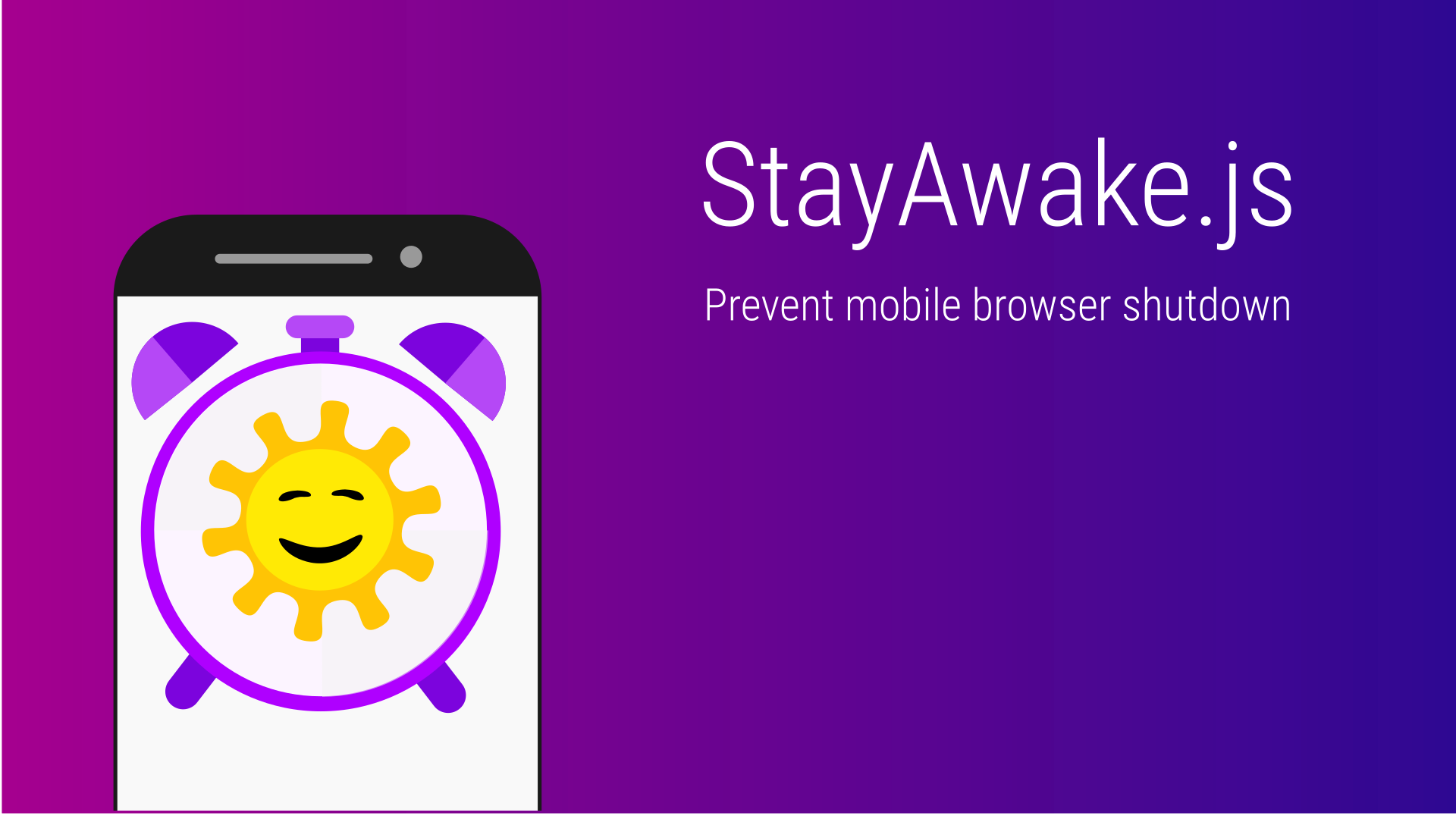 StayAwake.js | Prevent Mobile Browsers From Turning Off