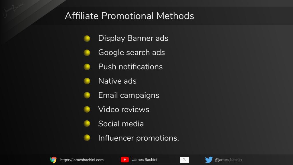 affiliate promotional methods