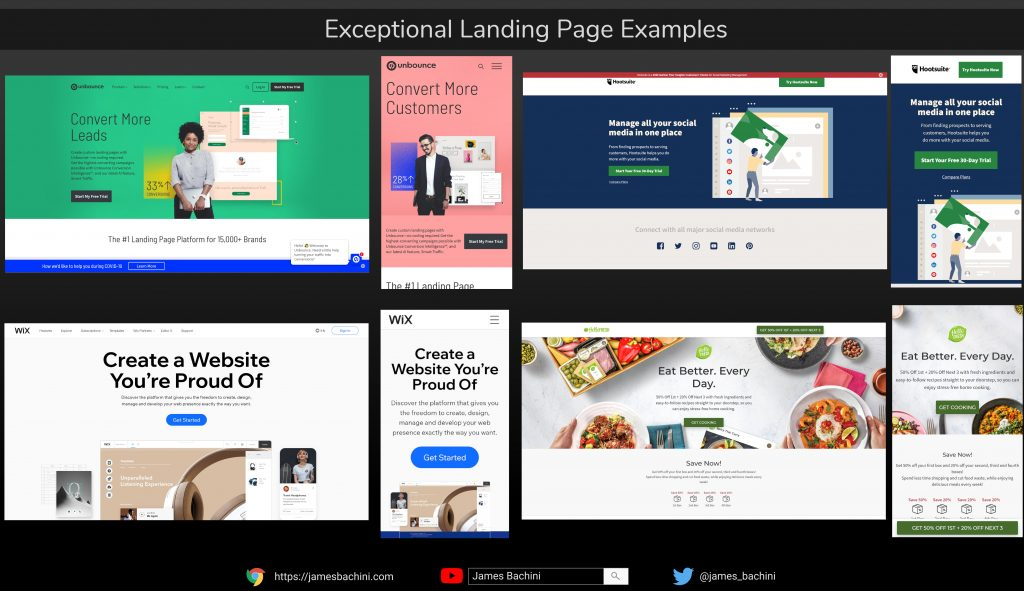 exceptional landing pages