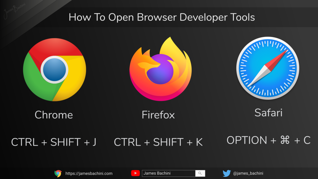 How to open browser developer tools