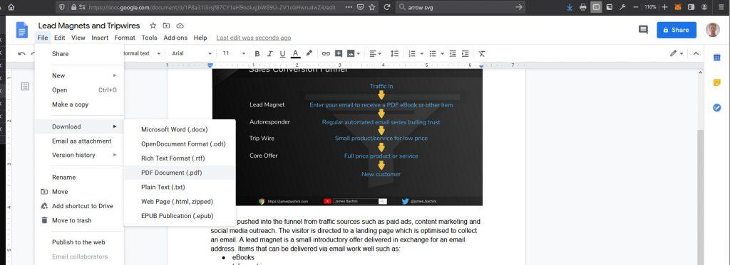 Designing an eBook using Google Docs
