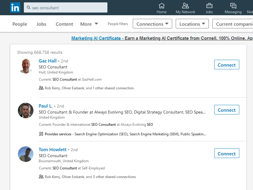 Marketing help for small businesses on Linkedin