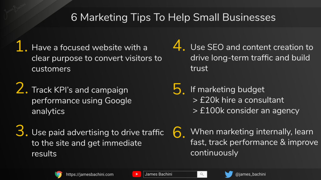 6 Marketing Tips For Small Business