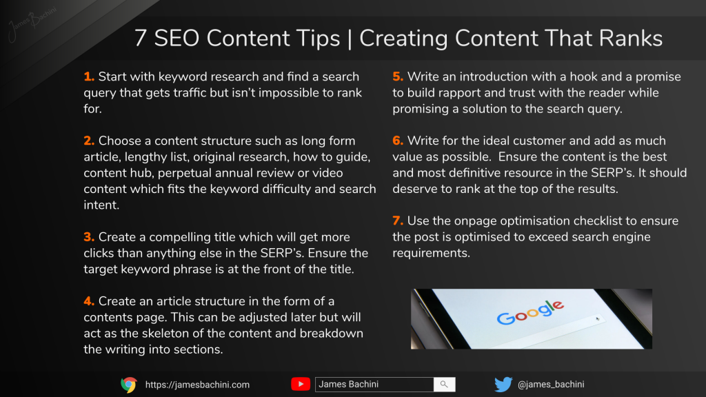 SEO Content | How To Rank On Google 🕵️ 6
