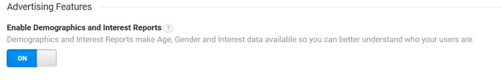 Demographics Reporting Google Analytics
