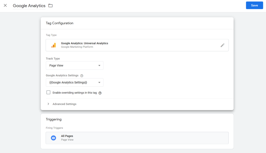 Google Analytics Setup in Google Tag Manager