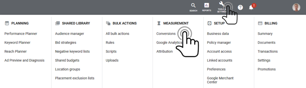 Tracking conversions in Google Ads