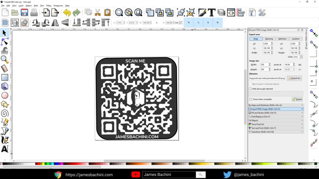 Custom QR Code design in Inkscape
