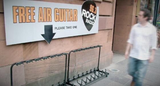 Air guitar guerilla marketing