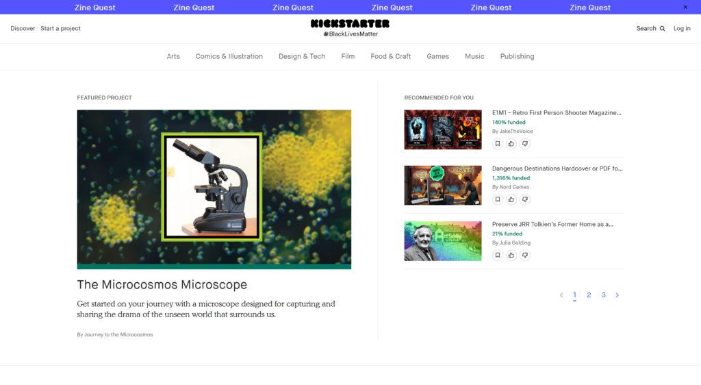 Startup funding on Kickstarter