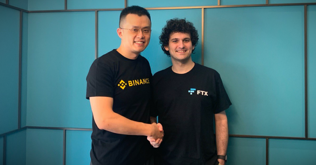 CZ from Binance and Sam from FTX