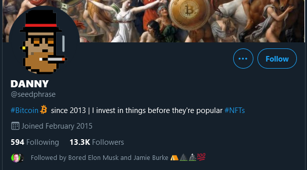 Crypto Punk Twitter Profile