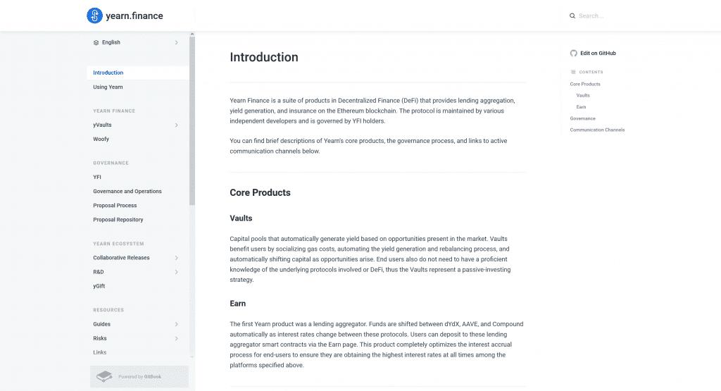 Standard Gitbook Markdown Layout