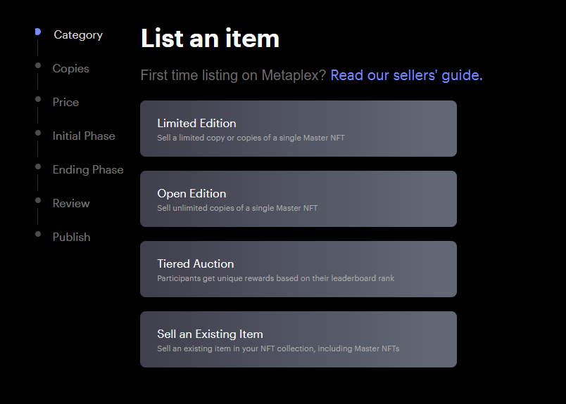 Metaplex List An Item